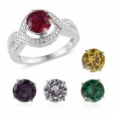 Ruby,Citrine,Diamond,Emerald, Blue Sapphire Interchangeable Ring ,size O