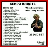 KENPO KARATE Larry Tatum 23 dvd set training series mma panther productions