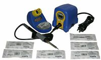 HAKKO FX888D-23BY SOLDERING STATION W/ 6 Tips:  T18-B, I, K, D24, D32, Authentic