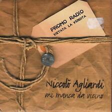 """NICCOLO' AGLIARDI - RARO CDs PROMO """" MI MANCA DA VICINO """""""