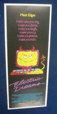 ELECTRIC DREAMS(1984)VIRGINIA MADSEN ORIGINAL INSERT ROLLED POSTER 14 X 36
