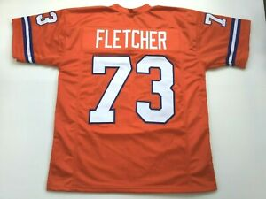 UNSIGNED CUSTOM Sewn Stitched Simon Fletcher Orange Jersey  M, L, XL, 2XL