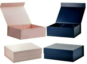 Gift Storage Wedding Boxes Magnetic Lid Rectangular 11x8.3x3.8 inch Collapsible