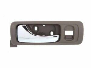 For For Acura RL 96-03 INNER Front Left Beige Bezel W/ Chrome Lever Door Handle