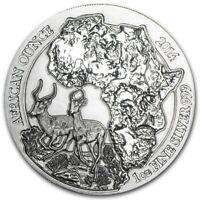 2014 Rwanda Silver African Impala One Oz. Silver .999 Coin BU - Air-Tite holders