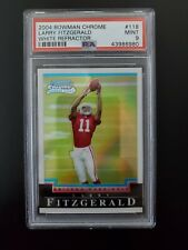 2004 Bowman Chrome #118. Larry Fitzgerald. WHITE REFRACTOR. Rookie. RC. PSA 9