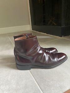 Allen Edmonds Oxblood Leather Winchester Hightop Beatle Boots Size 11.5 US Men's