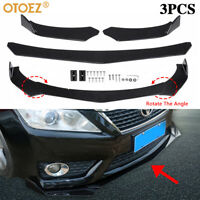 Universal ABS Car Front Bumper Lip Splitter Spoiler Lower Chin Diffuser Glossy