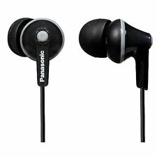 Panasonic RPHJE125/BLACK Ergofit In-Ear Headphones Earphones RP-HJE125E-K New