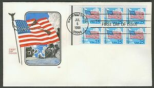 #2285Ac 25c Flag and Clouds, HF FDC ANY 4=