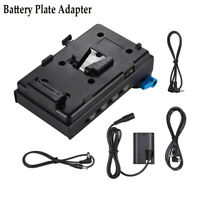 V Mount Battery Plate w/Dual Hole Rod Clamp LP-E6/FW50 Dummy Adapter for BMCC