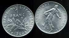 FRANCE   FRANCIA  1 franc semeuse 1960    ( SUP + )