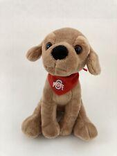 Plushland Puppy Dog Stuffed Animal Plush Ohio State Bandana