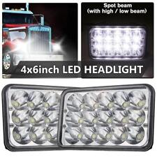 "Pair 4X6"" inch CREE LED Headlights Hi/Lo Clear Sealed Beam Headlamp Car Truck"