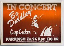 BO DIDDLEY 1983 original SILKSCREEN CONCERT POSTER AMSTERDAM PARADISO