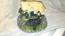 Bits and Pieces Gated Cottage Cast Iron Mechanical Coin Piggy Bank Works