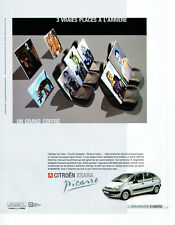 Publicité Advertising 107  2000   Citroen Xsara Picasso  grand coffre