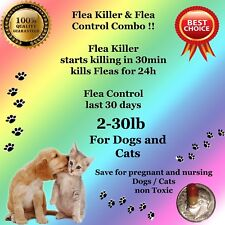 Flea Killer and Control Combo 6+6 instant Killer for small Dogs / Cats 2-30lb