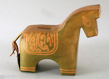 ANCIENNE TIRELIRE EN CUIR,  âne ou cheval