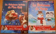 Livre CD 2 CONTES ENFANTS RACONTES LE BONHOMME DE NEIGE + LA FABULEUSE HISTOIRE