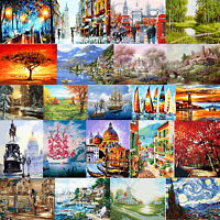 DIY Oil Painting by Numbers Landscape Paint Drawing Canvas for Adults Beginner