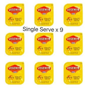 Vegemite Single Serve Portions x9 | Australian Spread Snack | Travel Size Sachet