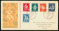Mayfairstamps Netherlands FDC 1958 Children Playing Combo First Day Cover wwh_21