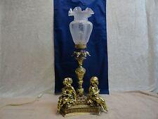 Vtg Cherub Puttie Baby Angel Table Lamp Italian Hollywood Regency Lamp GORGEOUS