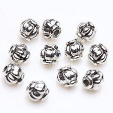 50 Tibetan Silver Lantern Loose Spacer Beads Bracelet Charm Jewelry Findings 4mm