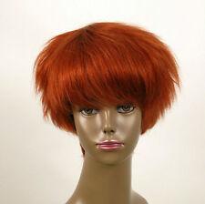 perruque afro femme 100% cheveux naturel courte cuivré intense ref WHIT 07/130