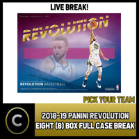 2018-19 PANINI REVOLUTION 8 BOX (FULL CASE) BREAK #B043 - PICK YOUR TEAM -
