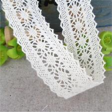 10 Yards Cotton Crochet Lace Trim Applique Ribbon Wedding Clothes Sewing Craft