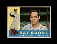 1960 Topps Baseball #281 Ray Boone (Braves) NM