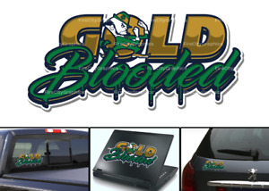 Notre Dame Fighting Irish Gold Blood Blooded Car Laptop Wall Sticker Decal
