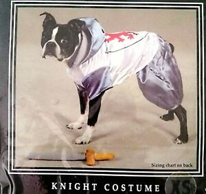 Halloween Costume For Dogs or Cats Medieval Knight Costume 2 Piece W/Sword Toy