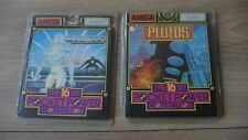 CBM Amiga : 2 X Disc Games Plutos & Quantox - The 16 Bit Pocket Power Collection