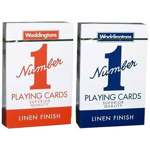New Waddingtons No.1 Classic Playing Cards Red & Blue Poker Game cheap