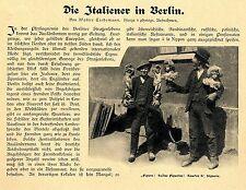 Die italienische Kolonie ( 2000 Auswanderer ) in Berlin 1906 Bildbericht