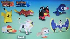 Pokemon Moon Sun 2017 McDonalds Happy Meal Toys Complete Set of 8 Plus 8 Cards