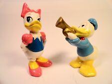 Older Walt Disney Donald Duck & Daisy Duck porcelain figurines Park Souvenir