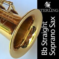 Straight Soprano Sax • STERLING Bb Saxophone • With Case and Accessories •