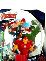 NEW Avengers Characters LED Night Light Plug in with Bulb, Indoor Use !