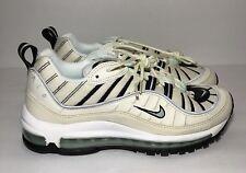 2d81f9af86a Womens Nike Air Max 98 Running Sail Igloo Fossil AH6799 105 WMNS Size 9  Mens 7.5