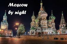 SOUVENIR FRIDGE MAGNET of MOSCOW BY NIGHT