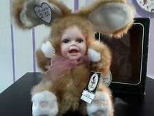 Geppeddo Cuddle Kids Bobby Bunny Baby Doll Porcelain Face Plush 2000