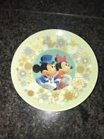 Disney Christmas Wishes Mickey Minnie Mouse Mini Plate 2012