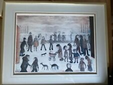 """L S Lowry """"The Park"""" limited edition print with blind stamp numbered 356/850"""