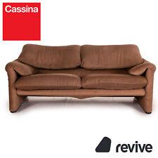 Cassina Maralunga Stoff Sofa Braun Zweisitzer Funktion Couch