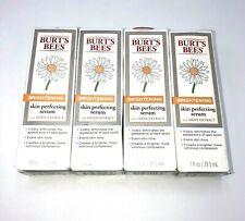 4 Burt'S Bees Brightening Skin Perfecting Serum 1 Fl Oz Each - Exp 6/20-4/21