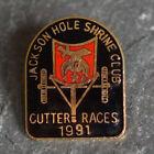Vintage Pin - Shriners Masonic Jackson Hole Lapel Cutter Races Cloisonne 1991